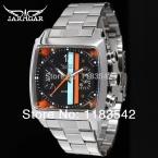 Jargar автоматические мода платье часы серебряный цвет с стальной браслет для мужчин горячая распродажа бесплатная доставка