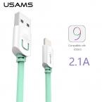 Для Iphone 6 6 s плюс 5S 5 5c Usb кабель IOS 9 USAMS 1 м 1.5 м плоские usb-зарядное устройство проволоки кобо кабель синхронизации данных для ipad 4 5 2 2