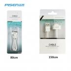 100% оригинальные Pisen 30pin к USB синхронизация данных , кабель , шнур для iPhone 3GS 4 4S iPad 2 3 iPod   реальным