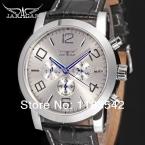 Высокая - класс синий 6 руки 24 ч. функция кожа белый циферблат herrenuhren лучший бренд мужской часы автоматическая / JAG6165M3S1