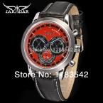 6 руки сексуальная красный циферблат авто неделя день 24 ч. кожаный ремешок JARGAR reloj antiguo продвижение мужчины подарок бесплатная доставка / JAG6041M3S1