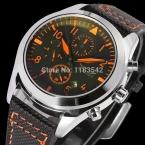 Jargarjag6904m3s1 новые люди автоматические мода платье часы серебристый цвет наручные часы с черный кожаный ремешок бесплатная доставка