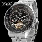 Jargar JAG034M4S2 автоматический мода платье наручные часы серебряные часы с стальной браслет для мужчин горячая распродажа бесплатная доставка