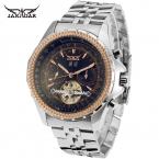 Jargar мужские часы мода духовой оркестр классический Autoamtic турбийон платье наручные часы цвет черный JAG070M4
