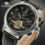 Jargar автоматическая розового золота цвет мужчины наручные часы с турбийоном черный кожаный ремешок бесплатная доставка JAG16557M3R1