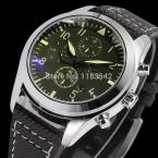 Jargar JAG6904M3S3 новые люди автоматические мода платье часы серебристый цвет наручные часы с черный кожаный ремешок бесплатная доставка