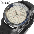 Jargar JAG6066M3B1 новые люди автоматические мода часы черный наручные часы для мужчин с силиконовой лентой лучший подарок бесплатная доставка