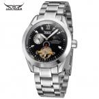 Jargar мужские часы Новый стиль мода свободного покроя турбийон нержавеющей стали известный бренд наручные часы цвет черный JAG9408M4