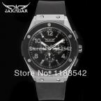 Jargar новые люди автоматические мода платье наручные часы черный цвет с черным резинкой JAG6389M3T1