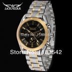 Jargar мужские часы золотой цвет шатона браслет из нержавеющей стали черный циферблат 6 руки платье наручные часы JAG6055M4T1