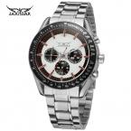 Jargar мужские часы Новый стиль мода маленькие глаза из нержавеющей стали известная марка наручные часы цвет белый JAG6055M4