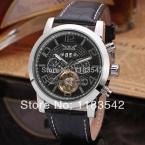 Jargar новая автоматическая мода платье часы с турбийоном серебряный цвет для мужчин бесплатная доставка JAG165M3S2