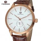 Fsg8083m3r1 последние автоматические роскошные бизнес часы с коричневый кожаный ремешок для бесплатная доставка с оригинальным подарочной коробке