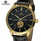 Fsg8083m3g2 новое l автоматического роскошного продвижение платье часы с черным кожаным ремешком с подарочной коробке бесплатная доставка