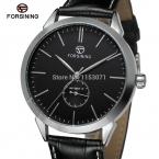 Fsg8083m3s4 Forsining бренд автоматического роскошного мужские часы с черным цветом кожаный ремешок для бесплатная доставка быстрая доставка