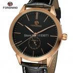 Forsining relogios FSG8083M3R2 автоматический роскошные импорт часы с черным циферблатом и кожа бесплатная доставка с подарочной коробке