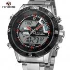 Forsining мужские часы моде хронограф функцией будильника из светодиодов дисплей авто дата онлайн спортивные наручные часы цвет BlackFSGE8084Q4T3