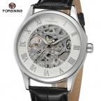 Нью-механические часы модный дизайн для мужчин handwinder серебряный чехол и циферблат с серебряным цвет римские цифры скелет FSG8094M3S1