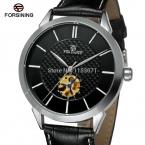 Скидка часы Forsining коль саати с черным циферблатом и кожа роскошный дизайн для мужчин чехол подарочной коробке для FSG8083M3S2