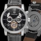 Forsining FSG165M3S4 новый автоматический мода платье мужчины часы турбийон серебро наручные часы для мужчин лучший подарок бесплатная доставка