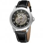 Бесплатная доставка водонепроницаемый FORSINING часы мужчины люксовый бренд сплава чехол из натуральной кожи relogio masculino с подарочной коробке