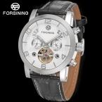 Forsining FSG165M3S3 новый автоматический мода платье мужчины часы турбийон серебро наручные часы для мужчин лучший подарок бесплатная доставка