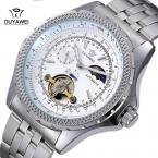 Бренд OUYAWEI мужская роскошные механические наручные часы из нержавеющей стали бизнес мужские часы Relogio Masculino