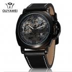 Ouyawei 1113 женщин вырез циферблат механические часы с нержавеющей стальной ленты Relojes хомбре 2015 человек часы Relogios