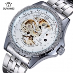 Бренд OUYAWEI 1316 мужские резка-10шт из простой механические наручные часы из нержавеющей стали бизнес мужские часы Relogio Masculino