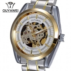 Ouyawei 1320 элегантный стальной браслет мужской автоматические часы aAutomatic self-ветер бизнес мужские часы Relogio masculino