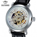 Мужчины автоматический сеиф механическая Watc OUYAWEI люксового бренда дата авто мужские часы ClockRelogio Masculino
