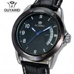 Автоматически проставленная мужские механические часы люксовый бренд OUYAWEI автоматический self-ветер механические часы наручные часы подарок relogio masculino