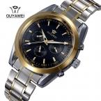 Лучший бренд Ouyawei часы парни весь сталь автоматические механические часы для мужчин роскошные наручные часы 30 м водонепроницаемый Relogio Masculino