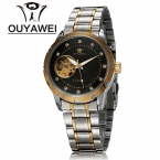 Мужские часы мужчины автоматический сеиф механическая Watc OUYAWEI люксовый бренд ClockRelogio Masculino