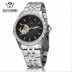 Бренд OUYAWEI 1418 мужские бизнес-механические наручные часы из нержавеющей стали ремень мода мужские часы Relogio Masculino