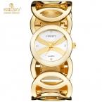Kingsky Роскошные Женщины Часы Известных Брендов Золото Дизайн Моды Браслет Часы Дамы Новый Relogio Feminino