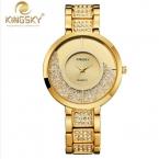 2016 Часы Женщины Кварцевые часы Relogio Feminino KINGSKY Женщин Новый Повседневная Часы Марка Известный Кварца Япония Мода Reloj Mujer