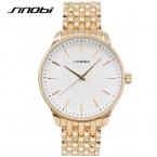 2016 Новый Sinobi Мужские Часы Top Brand Luxury Желтого Золота мужская полный Стали Кварцевые Часы Мода Роскошные Часы Мужской Часы часов