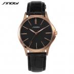 Новая Мода Sinobi Часы Мужчины Розового Золота Аналоговый Дисплей Кварцевые часы Моды Случайные Бизнес Мужские Часы Back Light