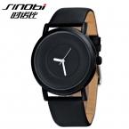 Top Brand Роскошные Sinobi Часы Мужчины Кожаный Ремешок кварцевые часы Простой Стильные Мужские Часы Человек Wris Часы Relogios Masculinos