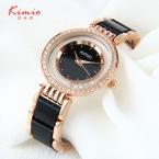 Kimio часы женщин из розового золота имитация оптово-керамические группа стразы дамы кварц - часы montre роковой час relojes mujer 2016