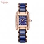 KimioРоскошные часы бренда женщин прямоугольник моды случайные дамы Аналоговые браслет кварцевые часы часы женские наручные женские часы