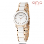 Kimio origina марка Дамы Имитация керамика Браслет кварцевые Часы моды случайные часы женщины розовое золото час часы montre femme