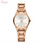 100% оригинал Кимио лучший бренд моды роскошь смотреть женщин дамы браслет из нержавеющей стали кварцевые часы час часы montre femme