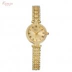2016 Kimio известная марка стразы кристалл люкс женщины золотые часы из нержавеющей стали ремешок дамы кварцевые часы montre femme часы