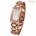 Kimio люксовый бренд часы женщины мода дамы аналоговый кварцевые - часы стразы кристалл прямоугольник наручные часы montre роковой