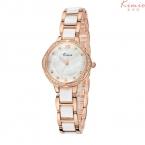Кимио известный бренд роскошных часов женщины rhinestone кристалл Имитация керамика ремешок дамы браслет кварта часы montre femme часы