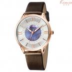 Kimio часы женщины мода дамы аналоговый кварцевые - часы кожаный ремешок большой золотой циферблат наручных часов для женщин montre роковой час clcok