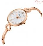 Kimio мода свободного покроя дамы аналоговый браслет кварцевые - часы горный хрусталь кристалл большой чехол наручные часы для женщин montre роковой