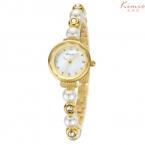 2016 Kimio люксовый бренд женщины золотая жемчужина ремень мода свободного покроя дамы аналоговый браслет кварцевые - часы montre роковой часы
